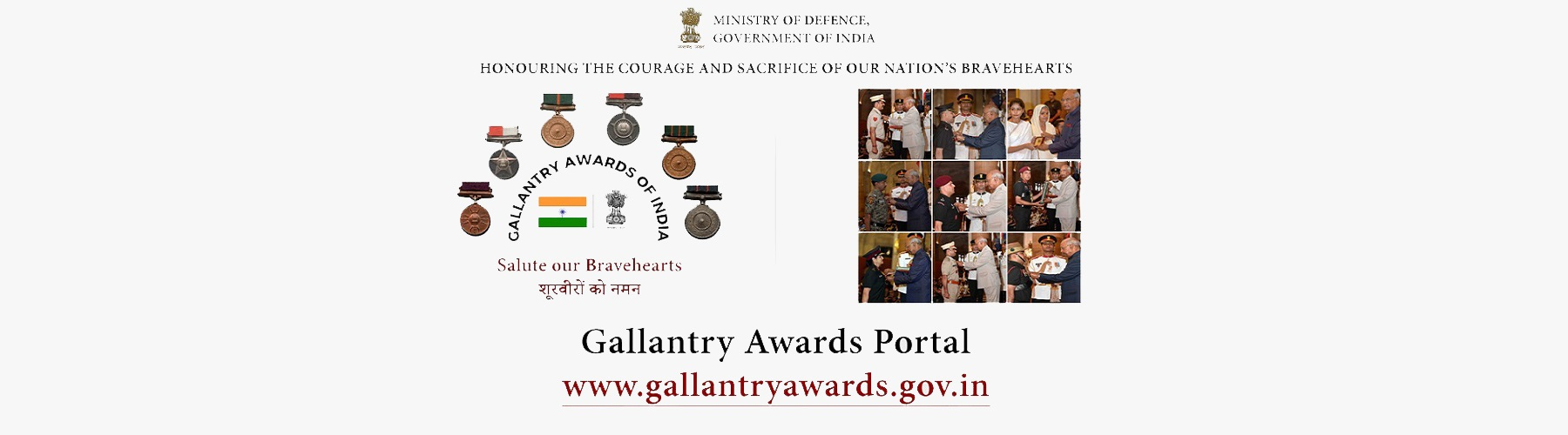 Show your solidarity to the valour and bravery of our soldiers-Gallantry Awards Website -Click here for Registration