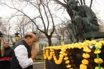 Raksha Mantri Shri Rajnath Singh paying floral tributes to Father of the Nation Mahatma Gandhi at the premises of Embassy of India in Moscow, Russia on Tuesday, November 05, 2019.