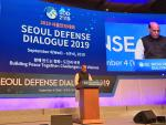 Raksha Mantri Shri Rajnath Singh delivering a Keynote Address at Seoul Defense Dialogue 2019 themed  Building Peace Together  Challenges and Visions on Thursday, September 5, 2019