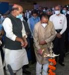 Raksha Mantri Shri Rajnath Singh during the function organised to dedicate seven new defence companies to the Nation in New Delhi on October 15, 2021