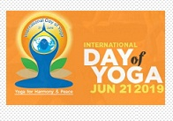 Celebration of International Day of Yoga ,2019